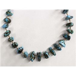Vintage Navajo Turquoise Nugget Heishi Necklace