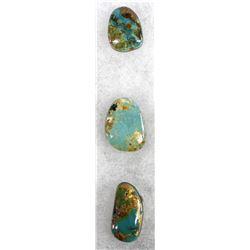 3 Evan's Mine Baja California Turquoise Cabochons