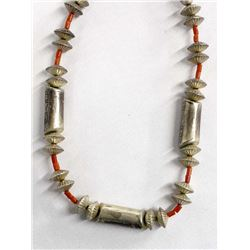 Navajo Sterling Hollow Bead Choker Necklace