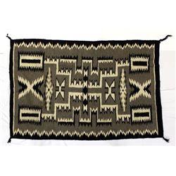 Navajo Storm Pattern Wool Textile Rug, Yellowhair