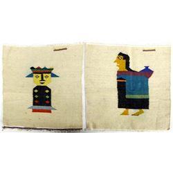 Pair of Lima Peru Wool Textiles
