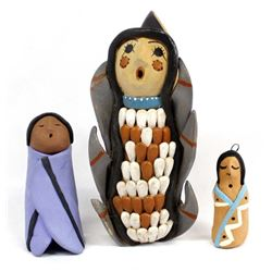 3 Pieces of Jemez Pottery Storytellers