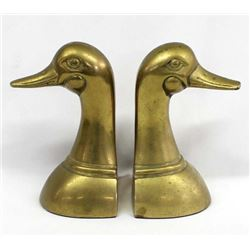 Leonard Silver Co. Solid Brass Duck Bookends