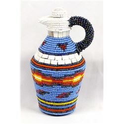 Hand Beaded Class Pitcher by Kathy Kills Thunder