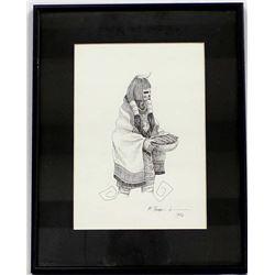 Original 1996 Pen & Ink Drawing by M. Burnham