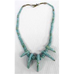 Vintage Navajo Turquoise Heishi Necklace