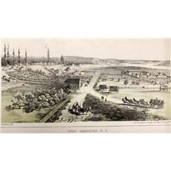 1855 Ft. Vancouver Washington Territory Lithograph