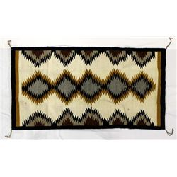 Navajo Serrated Diamond Wool Textile Rug