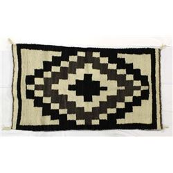 1960 Navajo Natural Wool Textile Rug