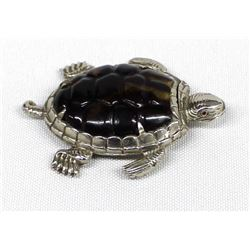 Antique Nickel Silver Turtle Matchbox/Vesta, ca. 1900's