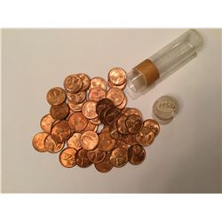 1958D Roll of US Lincoln Wheat Penny
