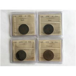 4 - ICCS 1858 Canadian Penny All G6