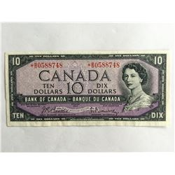 1954 Canadian$10.00 UNC Replacement Note *BD0588748