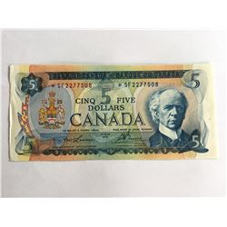 1972 Canadian $5.00 UNC Note *SF2277508
