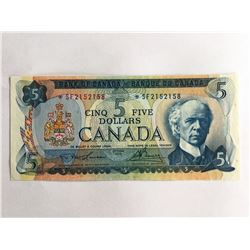 1972 Canadian $5.00 UNC Note *SF2152158