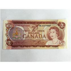 1974 Canadian $2.00 UNC Note *BJ6274887