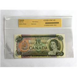 CCGS 1969 Canadian $20.00 Replacement Note UNC63 *WN1463912