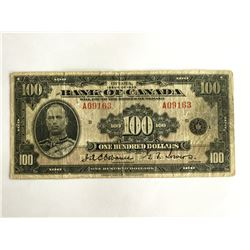 1935 Bank of Canada $100.00 Note     A09163