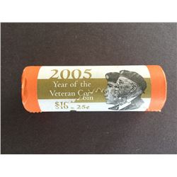 2005P Roll of 25¢ Canadian Veteran Coins Sealed