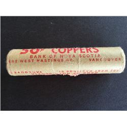 Canadian shot gun roll of 1¢ coins unknown date Sealed