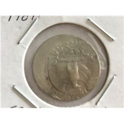 1984P United States Error Coin 25¢ coin off strike 15%