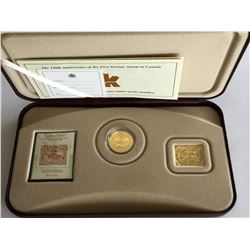 2001 Silver Coin and Stamp Set Mint Canadian