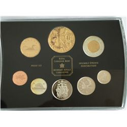 2002 Jubilee Anniversary Proof Set with Special Gold Plated Queen Elizabeth Coin Canadian
