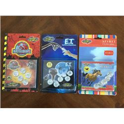 3 Royal Canadian Mint Reel Coinz and  Medallion sticker Sets