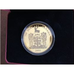 2008 RCM Limited Mintage $300 Gold and Silver Poof Coin
