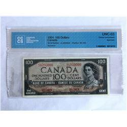 CCCS Certified Canadian Specimen $100.00 note UNC-63