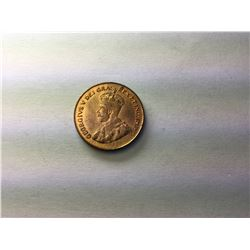 1921 Canadian penny