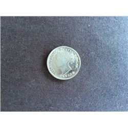 1870 Canada 10¢ Silver Coin Narrow 010