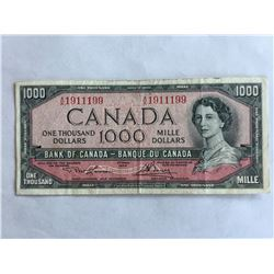 1954 Canadian $1000.00 Note Series AK