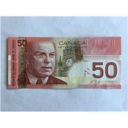 2004 Canadian $50.00 Radar Note Series AHA UNC