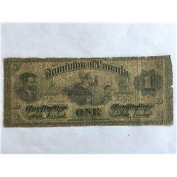 Rare 1870 Dominion of Canada $1.00 Small Date
