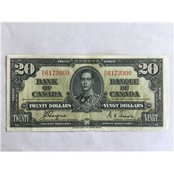 1937 Bank of Canada $20.00 Note UNC