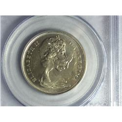 1967 Double Struck Canadian Silver 50¢ piece MS62