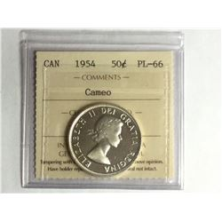 1954 Canadian Cameo Silver Dollar PL66