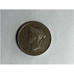 1870 Q1 Canadian 25¢ Piece