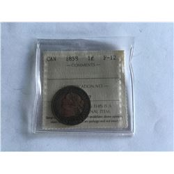 1858 ICCS Certified Large Cent F12