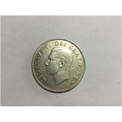 1948 Canadian Silver 50¢ Coin