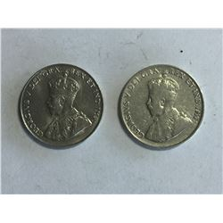 2 - 1922 Canadian Variety 5¢ Coins