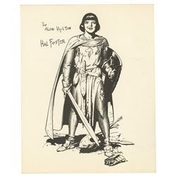 "Hal Foster Signed ""Prince Valiant"" Fan Card."