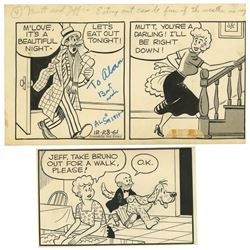 "Collection of ""Mutt and Jeff"" Comic Panels"