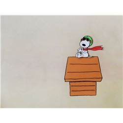"""Snoopy """"Flying Ace"""" Peanuts Animation Cel & Drawing."""