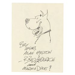 """""""Marmaduke"""" Drawing Signed by Brad Anderson."""