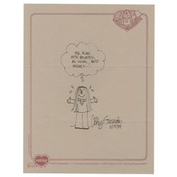 """""""Cathy"""" Drawing Signed by Cathy Guisewite."""