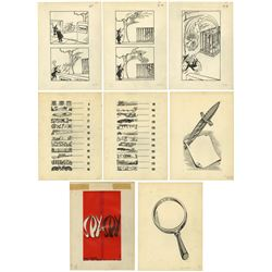 "Collection of (14) ""Spy Vs. Spy"" Original Drawings."