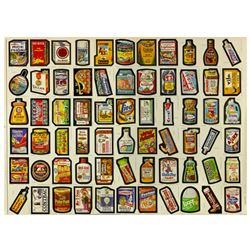 "Uncut Sheet of Series 1 ""Wacky Packages""."