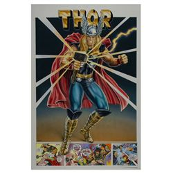 """Thor"" Original Poster Painting."